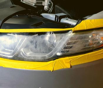 Headlight Restoration-XR6 left before